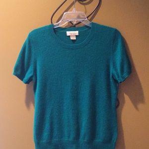 Vintage Peck & Peck shamrock cashmere sweater